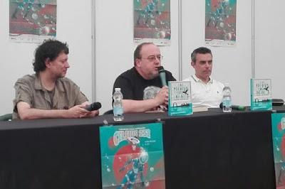 Jose Antonio Cotrina y Victor Conde presentando Las puertas del infinito
