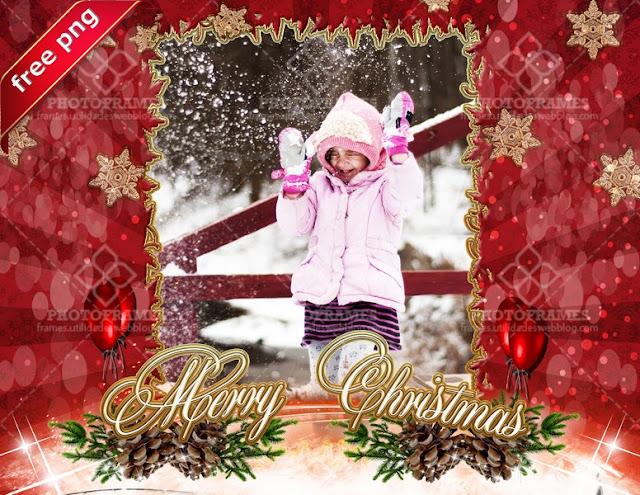 Hermoso marco con motivo navideño en png - christmas frame