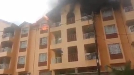 fedha estate fire burns down new building