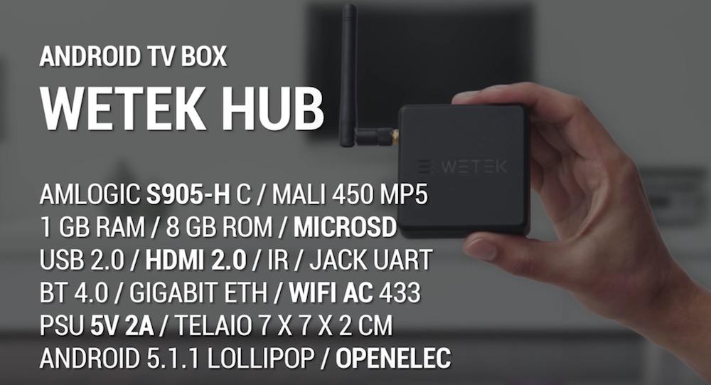 WeTek Hub la più discreta e supporta Netflix in HD e 4K