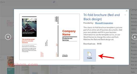 Template Brochures