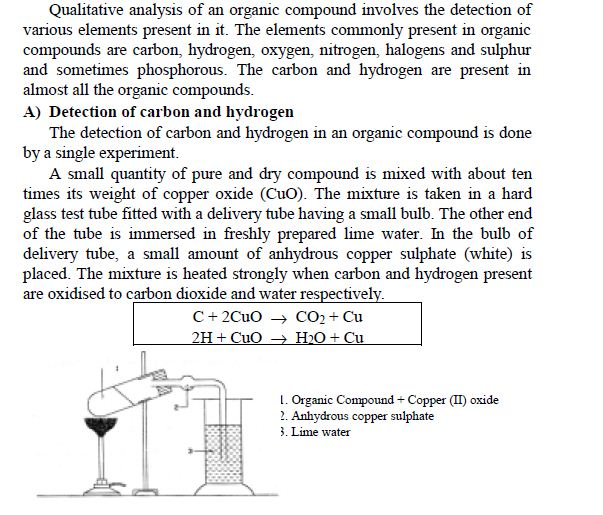 DETECTION  OF ELEMENTS(Qualitative Analysis)