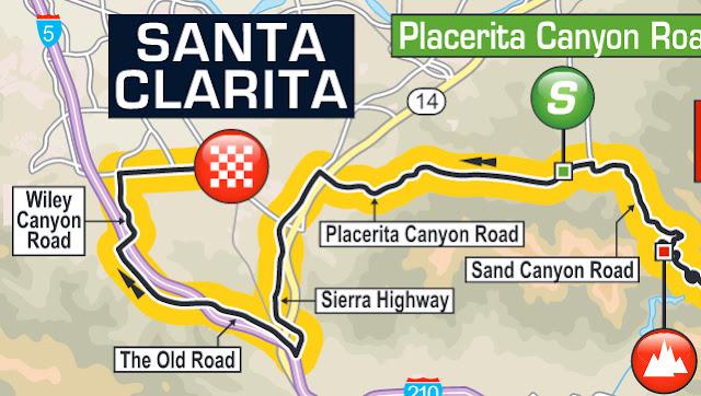 Finish Santa Clarita Tour of California