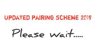 Matric pairing scheme 2019