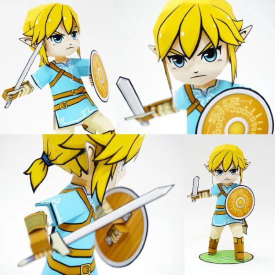 out of the papercraft that has been released for the new legend of zelda breath of the wild video game this link model has to be my favorite