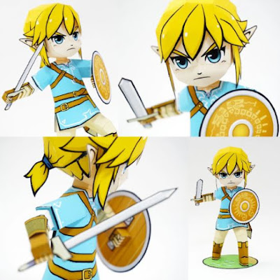 Chibi Breath of the Wild Link Papercraft