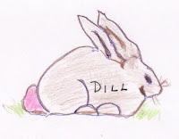 Illustration of rabbit by Diane M. Moore