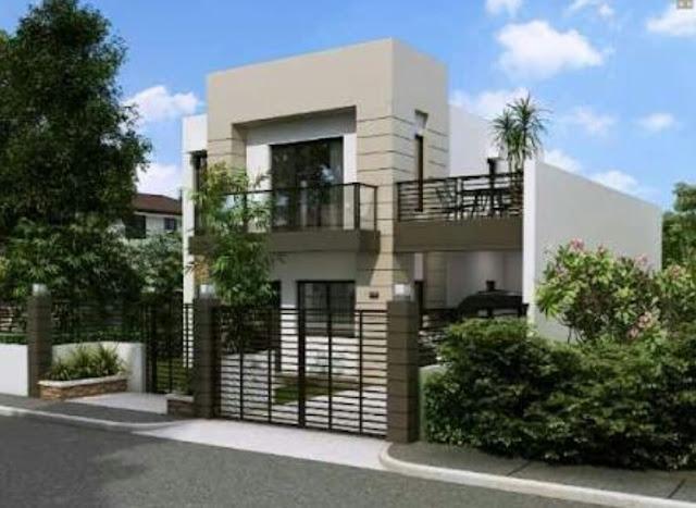 Bentuk Rumah Sederhana tapi Elegan dan Mewah, model rumah sederhana kelihatan mewah 2 lantai