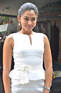 Andrea Jeremiah Stills in White Dress at Taramani Success Meet