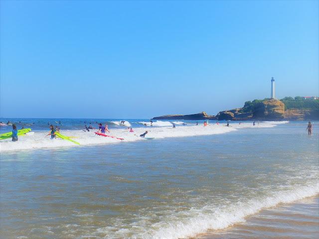 surfing i Biarritz - Frankrike