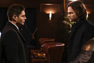 "Jensen Ackles as Dean Winchester and Jared Padalecki as Sam Winchester in Supernatural 13x15 ""A Most Holy Man"""