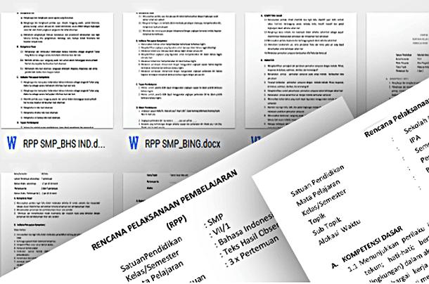RPP dan Silabus Kurikulum 2013 SMP Kelas 7 8 9 Download Lengkap