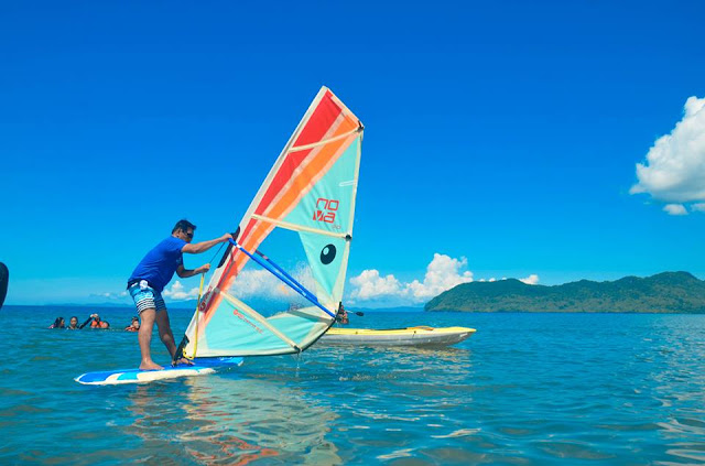 Windsurfing at Parientes Watersports - Hinunangan, Southern Leyte