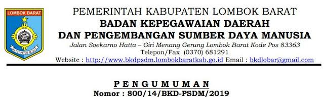 Pengumuman Hasil Akhir CPNS Kabupaten Lombok Barat