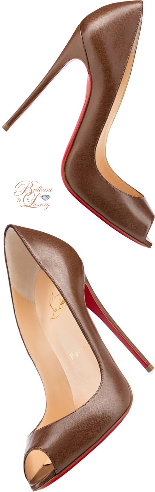 Brilliant Luxury ♦ Christian Louboutin Youpi Ada peeptoe pump