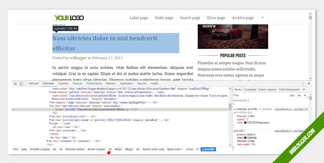cara memasang iklan adsense diatas judul postingan blog