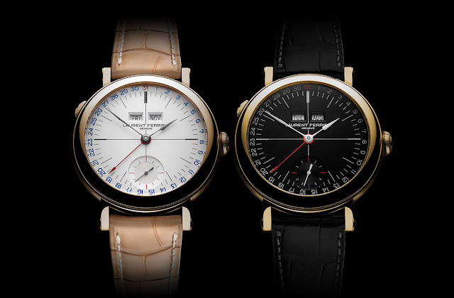 Laurent Ferrier Galet Annual Calendar School Piece Opaline Black & White