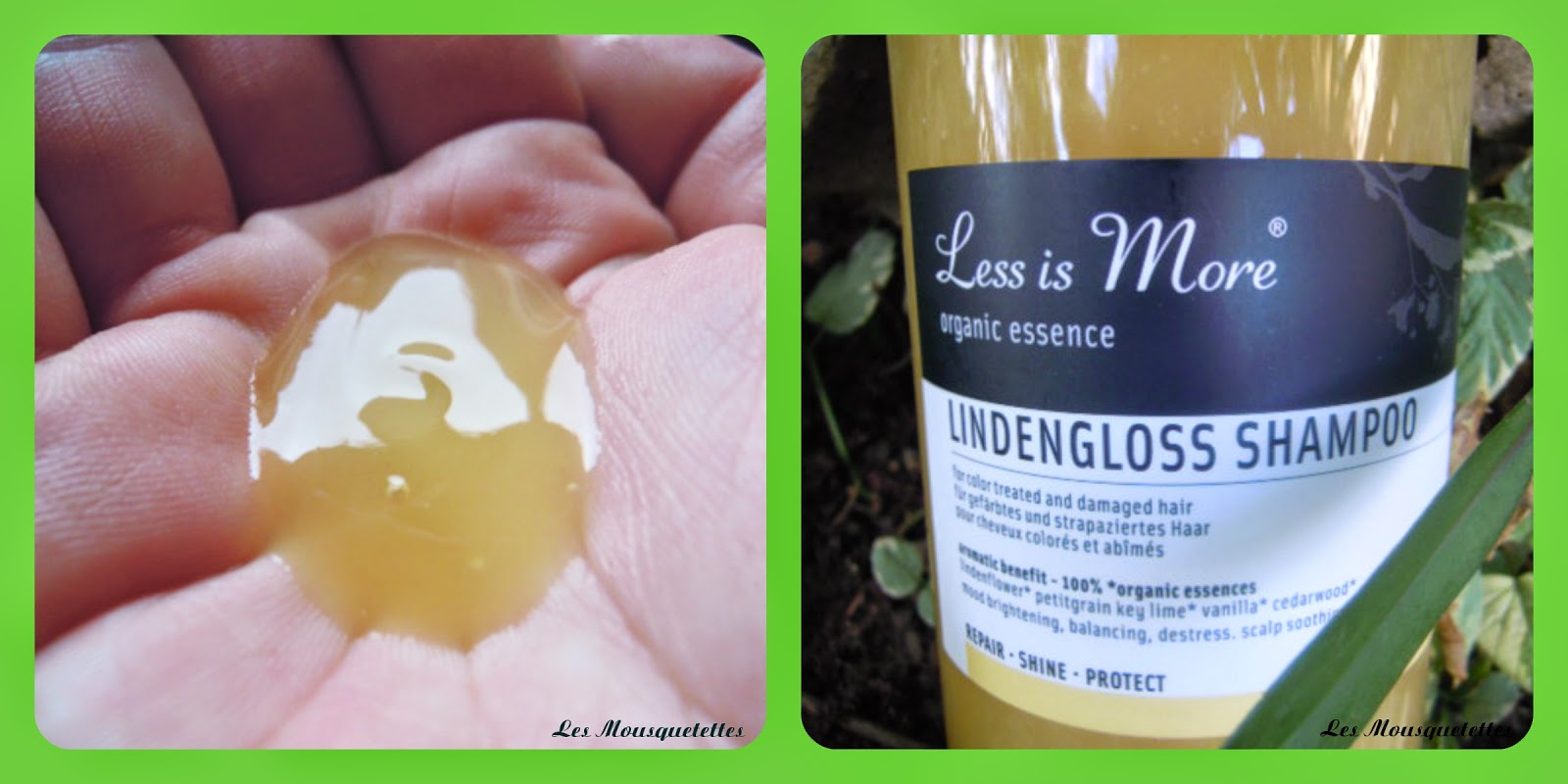 Shampoing Lindengloss Less is More - Les Mousquetettes©