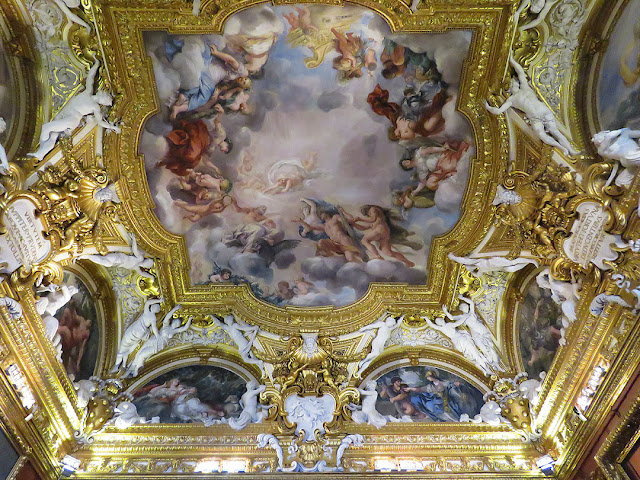 Fresco of the Throne room by Pietro da Cortona, Sala di Giove, Jupiter Room, Palatine Gallery, Palazzo Pitti, Florence