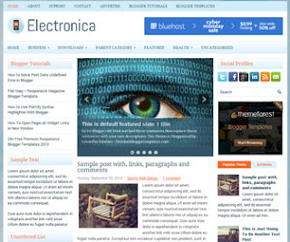 Electronica Responsive Blogger Template