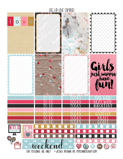 Free Printable Love Sampler for the Big Happy Planner from myplannerenvy.com