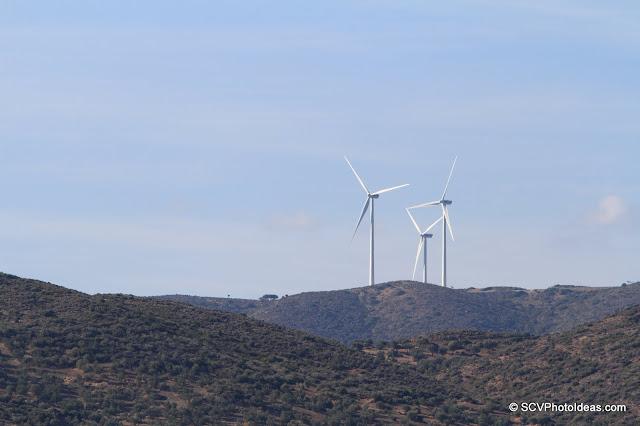 Aeolic energy turbines shot w/ focal length 200mm (320mm) lens