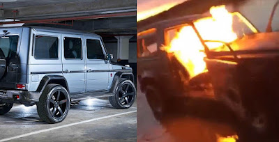 These Rich Kids Burnt a N60million G-Wagon Just For Fun 1