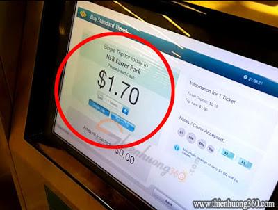 Cách mua thẻ Standard Ticket Singapore
