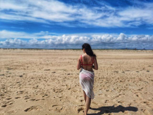 Sesja zdjęciowa na plaży, Model, Modelka, Fashion, Portugalia, Beach photoshoot