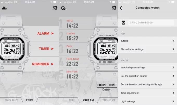 Tampilan agar Casio G-Shock Classic Terhubung ke Smartphone (techcrunch.com)