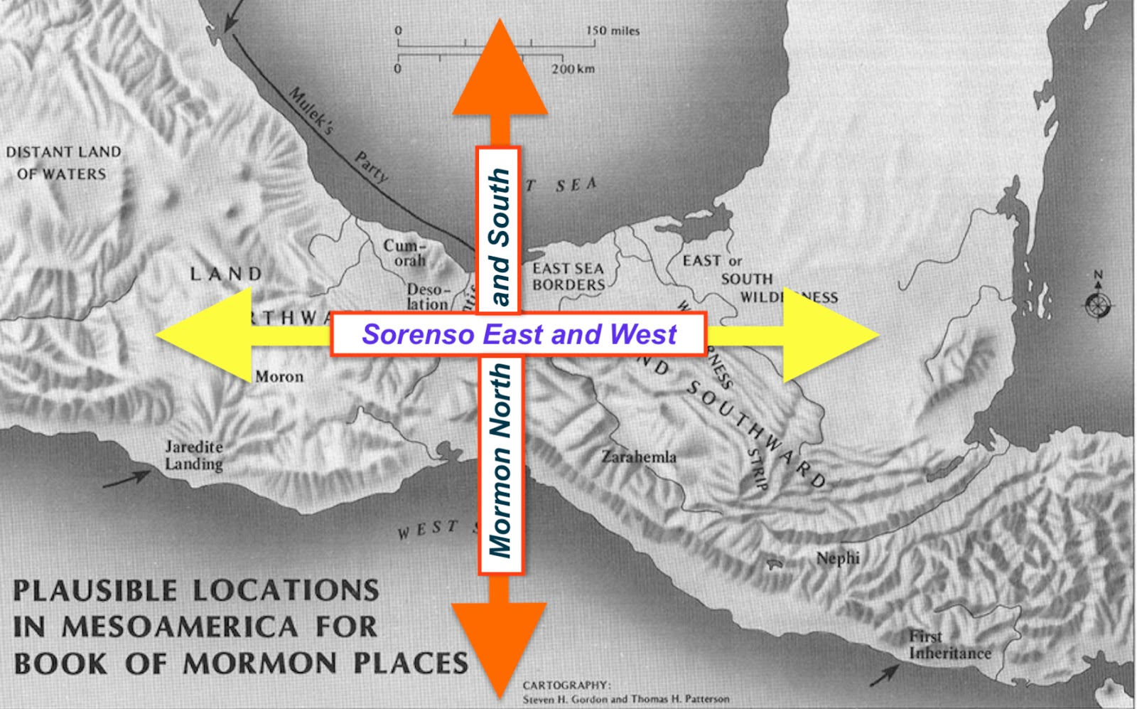 sorenson s map showing an east west land of promise instead of mormon s north south descriptions