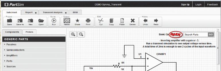 PartSim - Simulador de circuitos eletrônicos gratuito.
