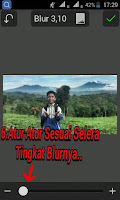 Edit foto background blur