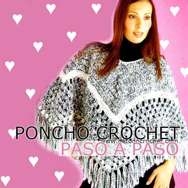 patrones de poncho tejido a crochet