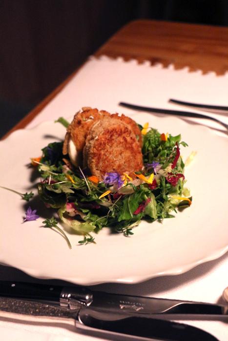 Salat im Biohotel Schwanen