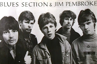 romo poster of Blues Section. Left to right: Jim Pembroke, Eero Koivistoinen, Ronnie Österberg, Hasse Walli, Måsse Groundstroem. Photo: Jukka Vatanen, Summer 1967