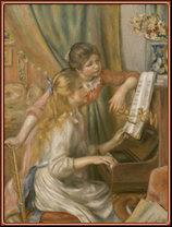 Muchachas al piano, por Renoir.