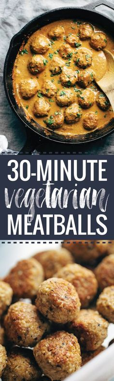 30-Minute Vegetarian Meatballs
