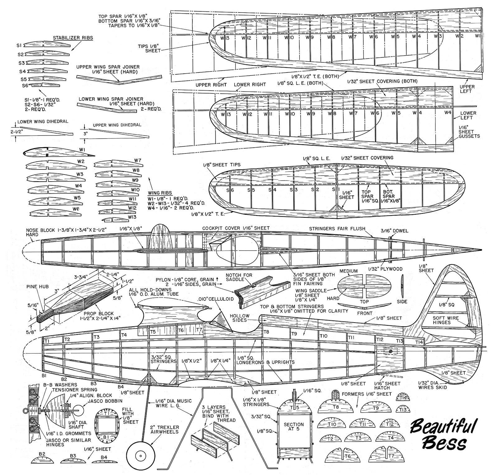 Beautiful Bess Jpg 1600 1527 Model Airplanes Rc Plane Plans