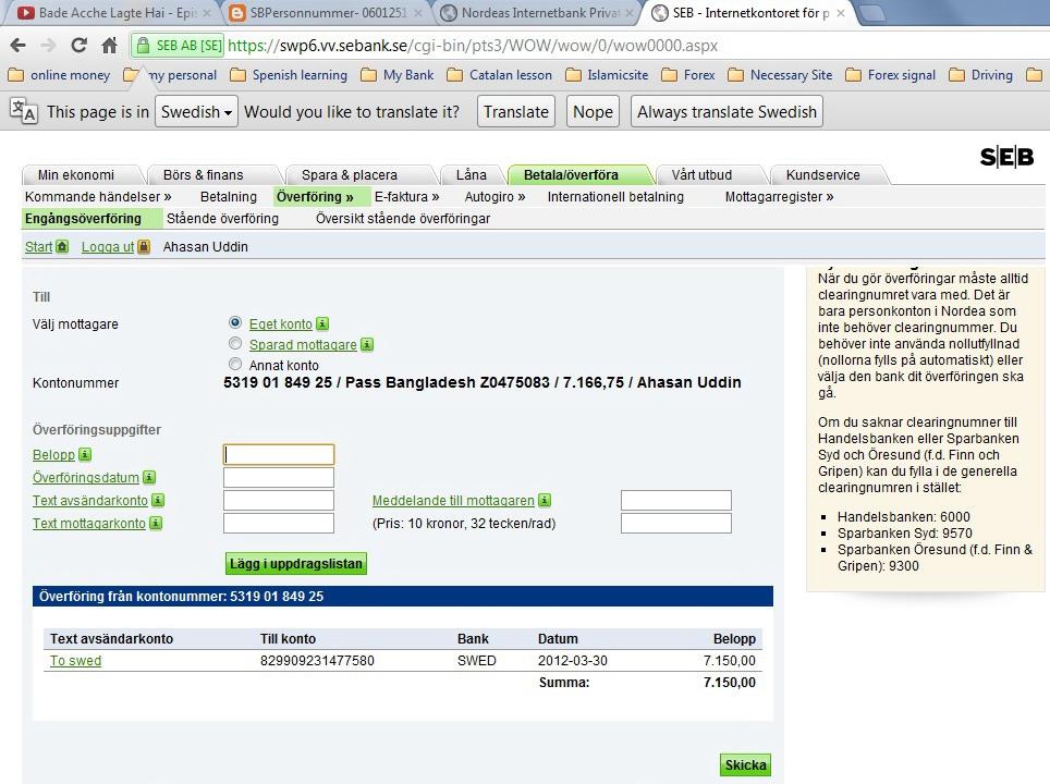 Seb Bank Online