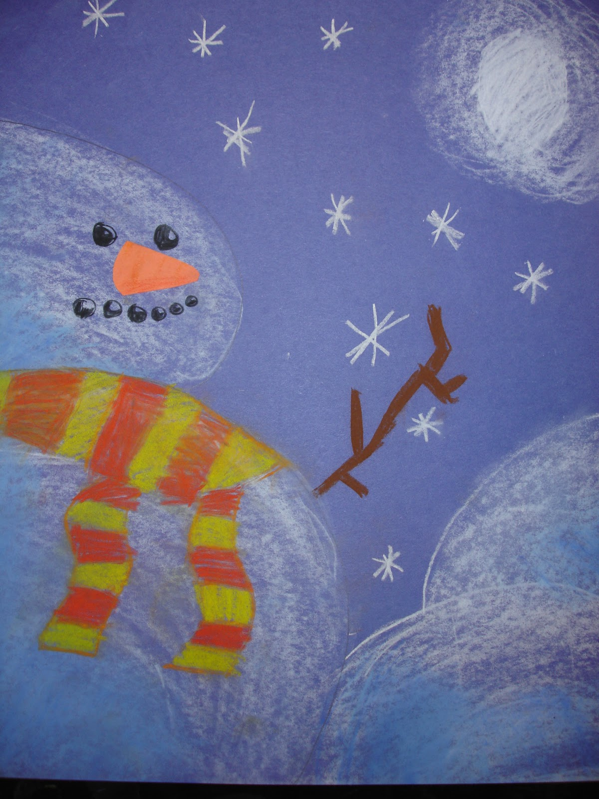 Mrs O Connell S Art Room Snowmen At Night