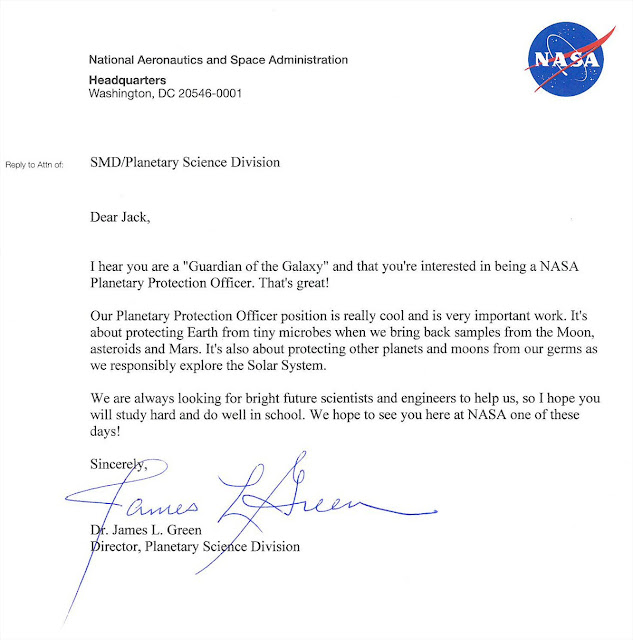 NASA's awesome response to the 9-year old kid who had applied for the position of 'Planetary Protection Officer' of Earth
