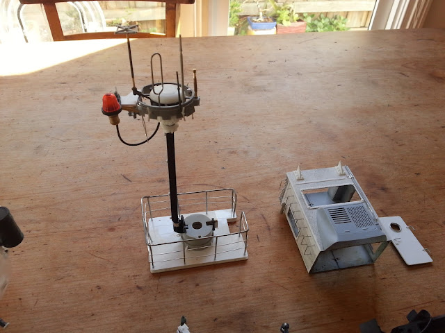scratch built communications mast in 1/35 scale