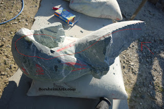 green marble carving in progress ballerina becomes a whale art