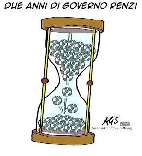 Renzi, governo, palle, vignetta satira