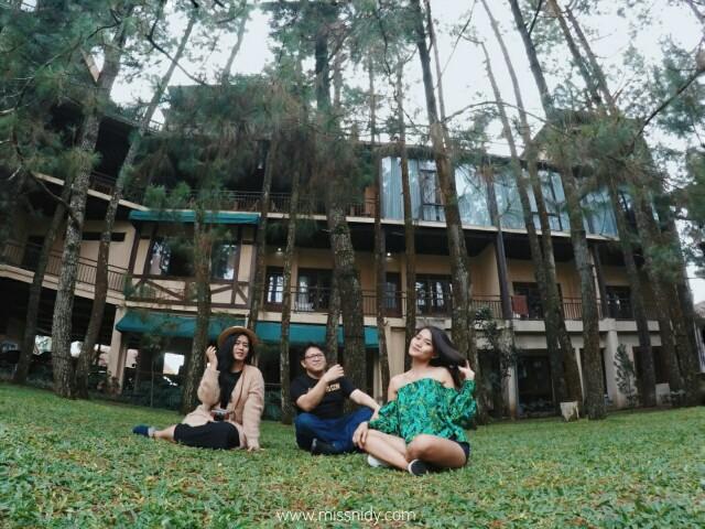 hotel dengan pemandangan hutan pinus di lembang bandung
