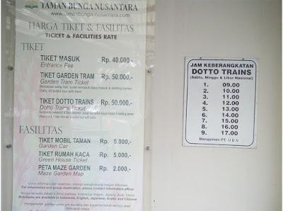 harga tiket Taman Bunga Nusantara