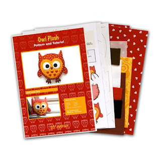 Owl Plush Animal Sewing Kit Contents