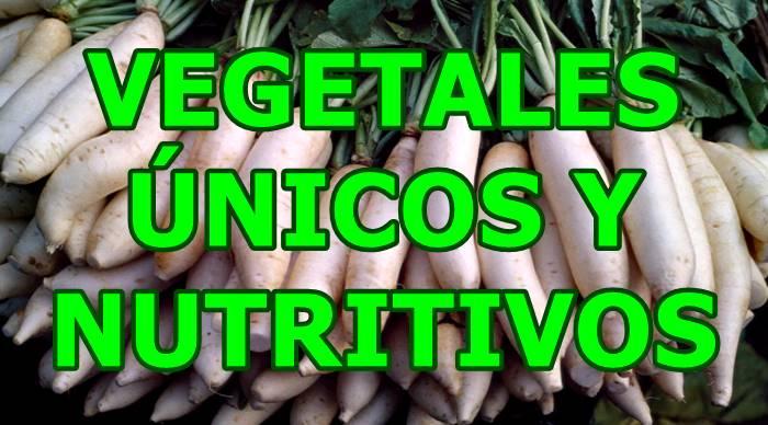 Vegetales nutritivos y poco comunes