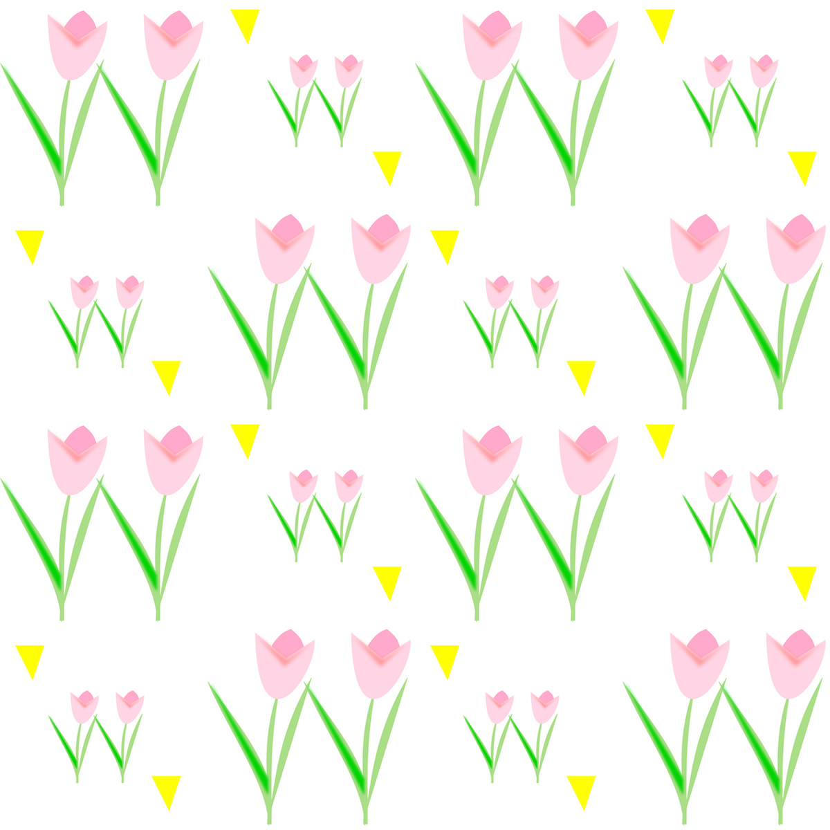 Free Printable Spring Tulip Scrapbooking Paper